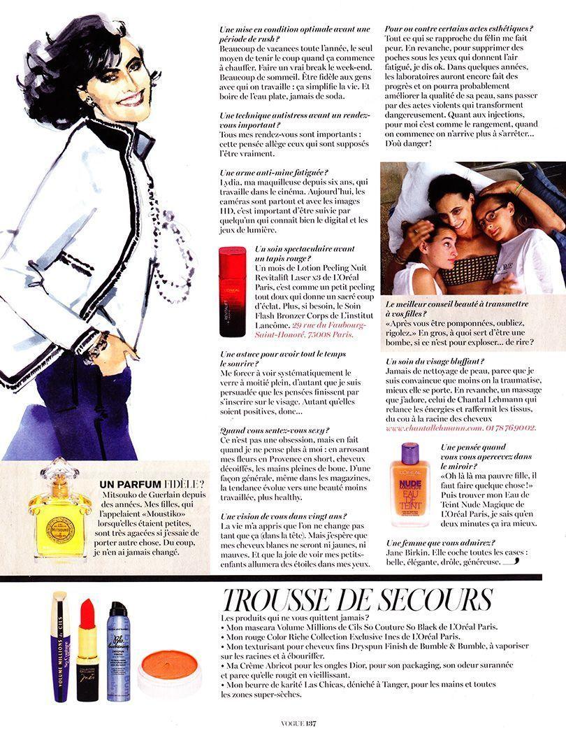 Vogue Paris - Ines de la Fressange 2014